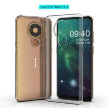 Fall Für Nokia 5,3 TPU Silicon Klar Ausgestattet Bumper Soft Case für Nokia 5,3 Transparent Zurück Abdeckung