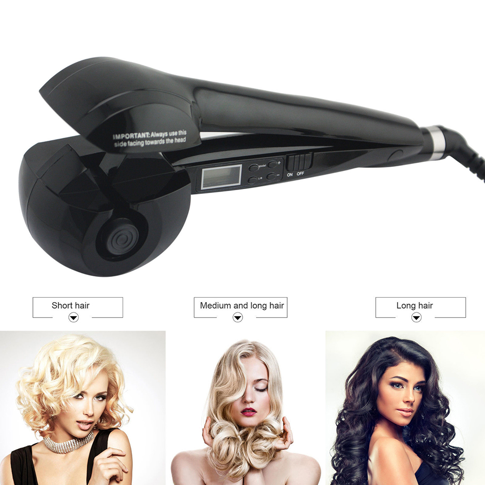 Pro Automatic Ploy Titanium LED Hair Curlers Perm Curl Hair Rolloer Styler Hair Curlers Styler Hair Curling Iron Dual Voltage