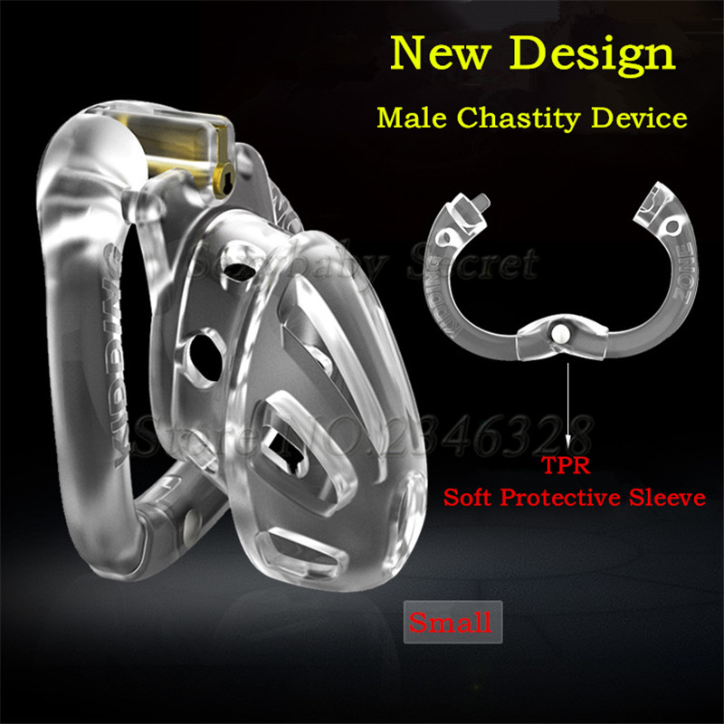 2020 New Design Openable Ring Male Chastity Device With 4 Size Penis Rings,Vent Hole Cock Cage,Virginity Lock,Sex Toys For Men