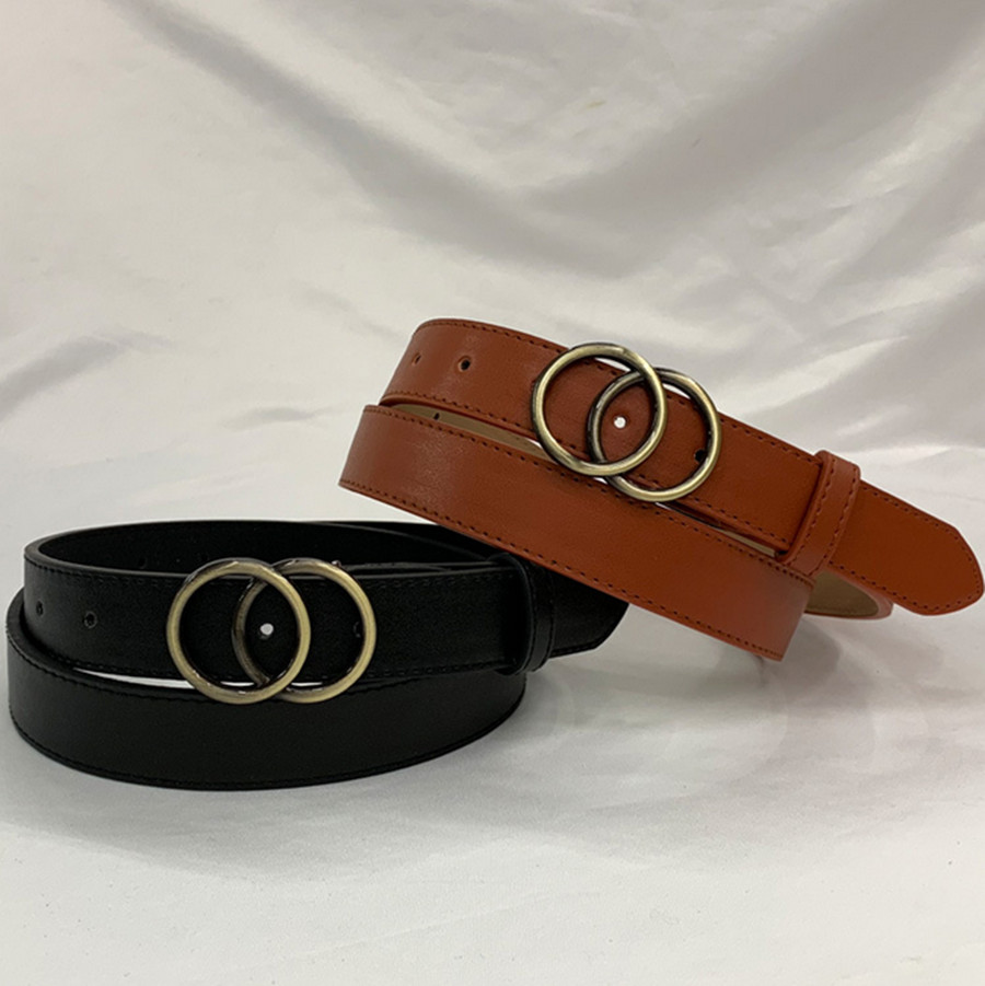Ladies Fashion Belt Belt Round Pin Buckle Casual Adjustable Belt Jeans Student Female Belt