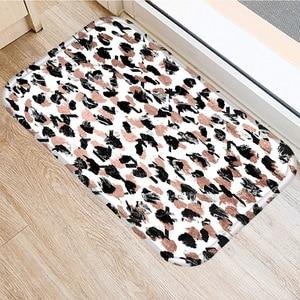 Image 4 - Brown Geometric Non slip Mat Home Bedroom Decorative Carpet Kitchen Living Room Floor Mat Bathroom Non slip Door Mat 40x60cm  ..