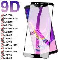 9D Volle Schutz Glas Für Samsung Galaxy A6 A8 Plus A7 A9 2018 Gehärtetem Screen Protector J4 J6 Plus J2 j7 J8 2018 Glas Film