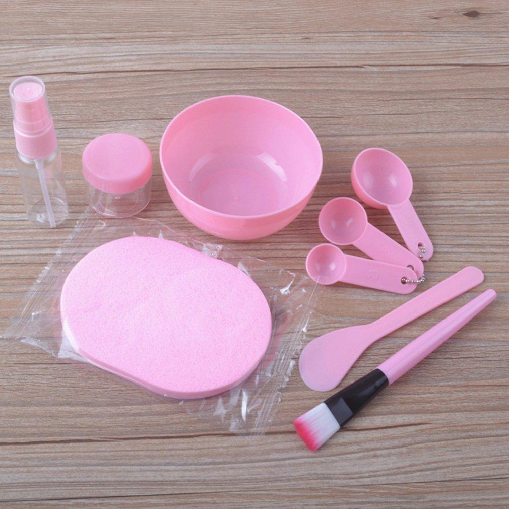 New DIY Mask Skin Care Kit Medium 9 Piece  Mask Bar Brush Measuring Spoon Spray Bottle Bubble Washing Mask Making Tool