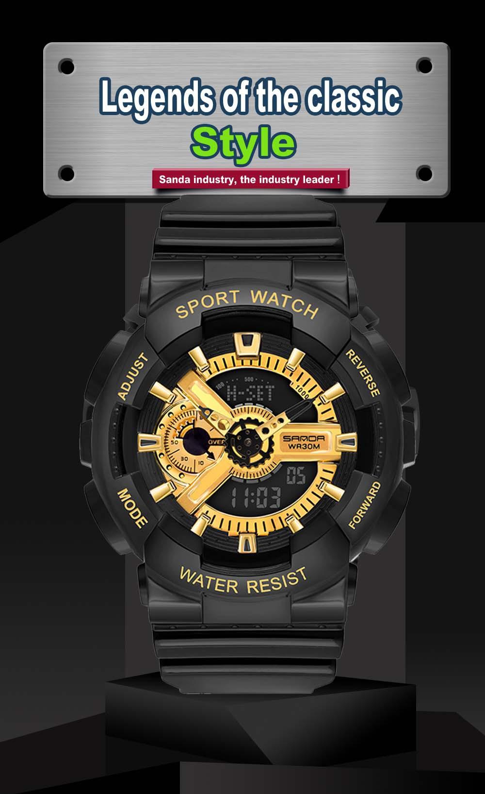 H6a1e1109da574997bd3196c4e855306aQ 2020 SANDA Military Men's Watch Brand Luxury Waterproof Sport Wristwatch Fashion Quartz Clock Couple Watch relogio masculino