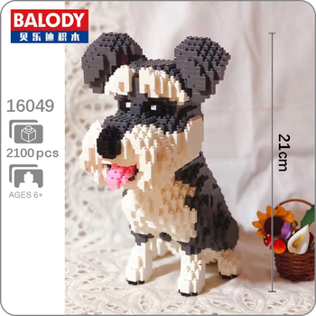 Building Blocks Building balody 16049 Pet Series Schnauzer Toy Gift