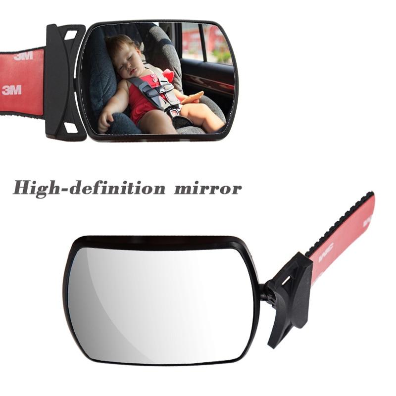 Мини-зеркало заднего вида YASOKRO, регулируемое Выпуклое Автомобильное Зеркало для наблюдения за ребенком