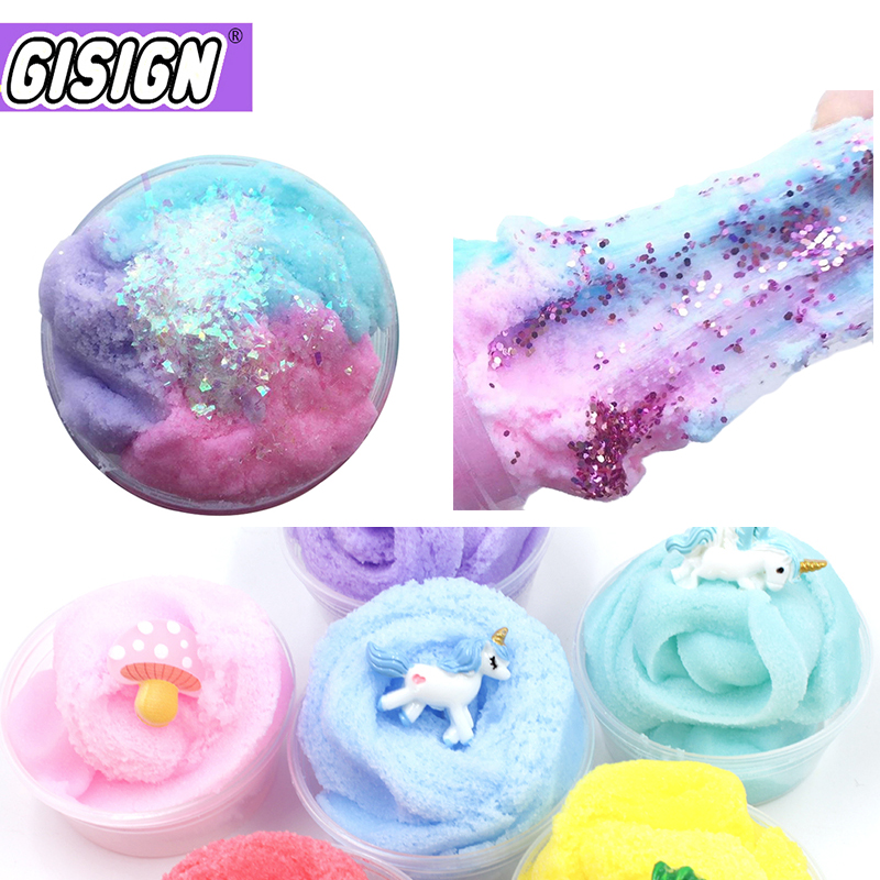 Magic Clay Color Cloud Slime Squishy Putty Scented Mix Fluffy Slime Charms Addition Diy Polymer Clay Toys Kit For Children