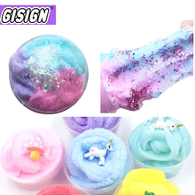 Magic Clay Color Cloud Slime Squishy Putty Scented Mix Fluffy Charms Addition Diy Polymer Toys Kit For Children