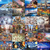 Hot Sale jigsaw puzzle 1000 piezas 3D picture Parper Animal Landscape Educational puzzles for adults Toys for kids games