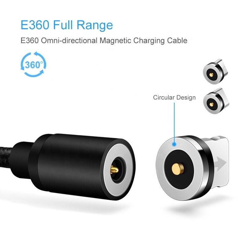 Ronde Magnetische Kabel Plug 8 Pin Type C Micro Usb C Stekkers Snelle Opladen Telefoon Magneet Charger Plug Voor Iphone 1M Laadstroom Cord 2