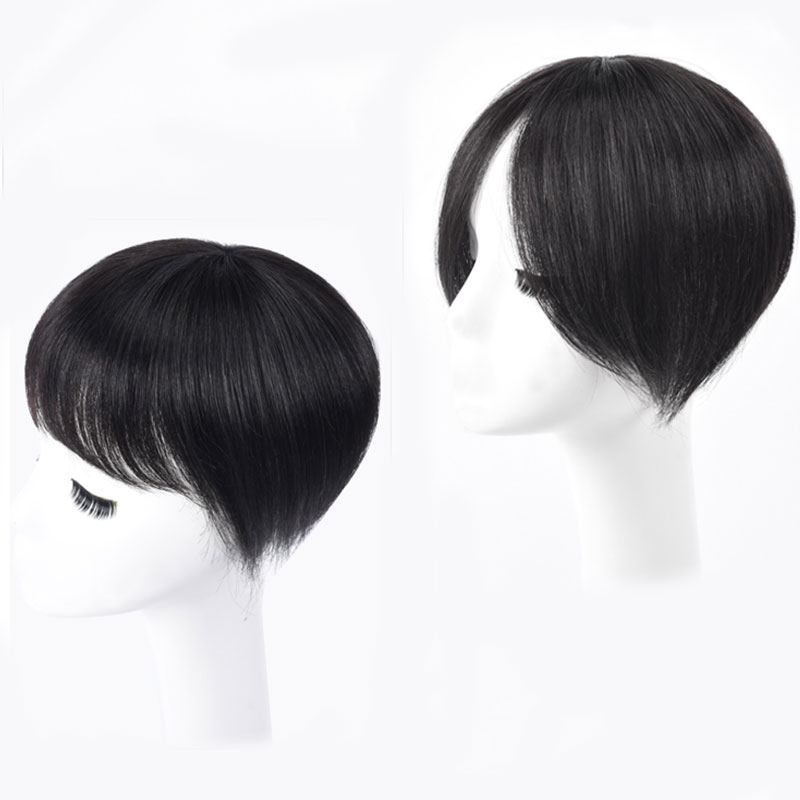 Women Straight Hair with Bang Fringe Top Closures Natural Color Hairpins Natural Hair Clip In Toupee Hairpieces MUMUPI