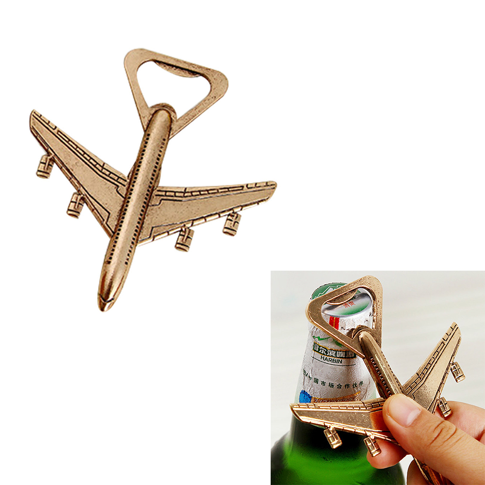 Antique Airplane Bottle Openers Aircraft Shape Beer Bottle Cap Remover Party Weddding Favor Gift Kitchen Gadgets Bar Accessories image