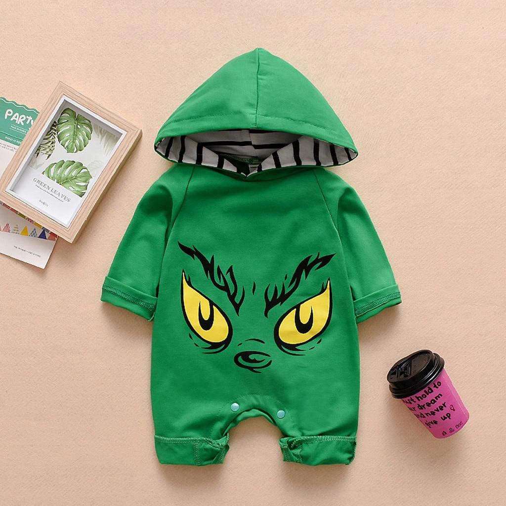 Baby Autumn   Romper   Newborn Infant Baby Girls Boys Cartoon Print Hooded Long Sleeve   Romper   Jumpsuit Roupas Kids Cotton Clothing