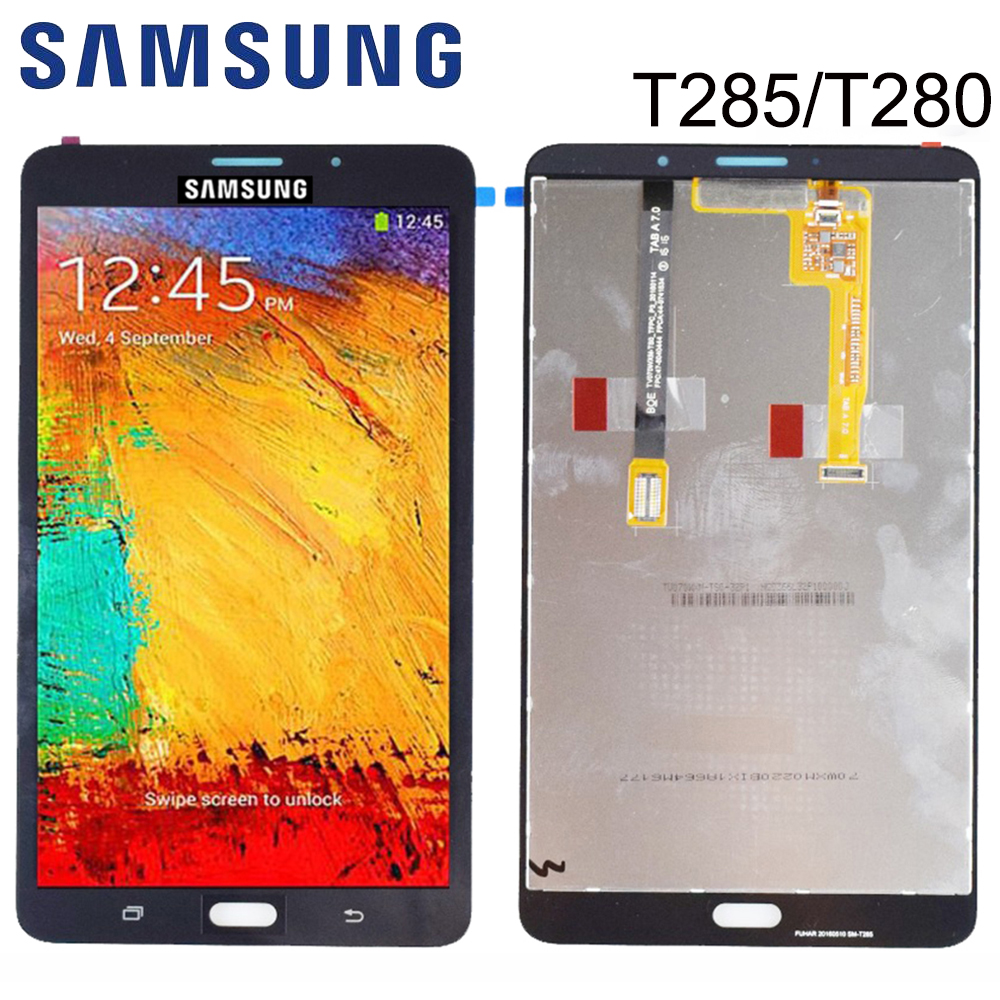 New For Samsung Galaxy Tab A 7.0 T280 T285 LCD Display Monitor + Touch Panel Screen Glass Digitizer Assembly Replacement FreeSIP