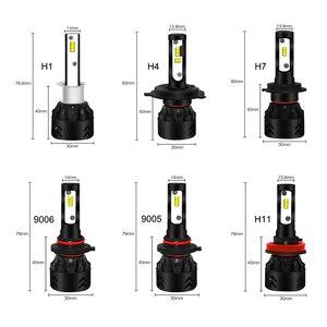 Image 5 - Roadsun LED Fari Lampadine Led H4 H7 H11 H1 9005 9006 HB3 HB4 Lumileds ZES Chip 12V 6000K auto Lampada Auto
