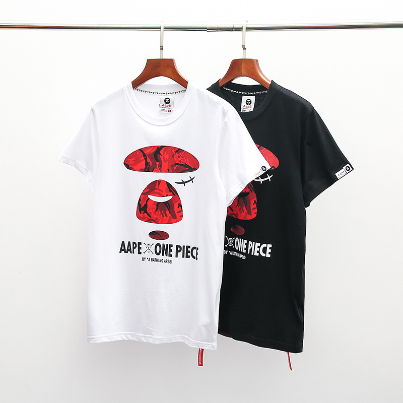 2019 Japanese-style Spring And Summer New Style One Piece Joint Short Sleeve T-shirt Men And Women Couples Half Sleeve Fashion