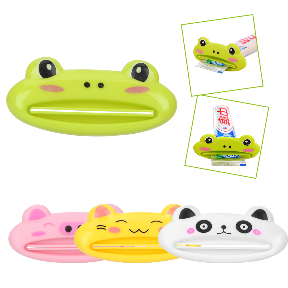 Toothpaste Squeezer Dispenser Easy Bathroom Products Cartoon Animals Shaped Extruding Toothpaste Clip Cream Tube Squeezer