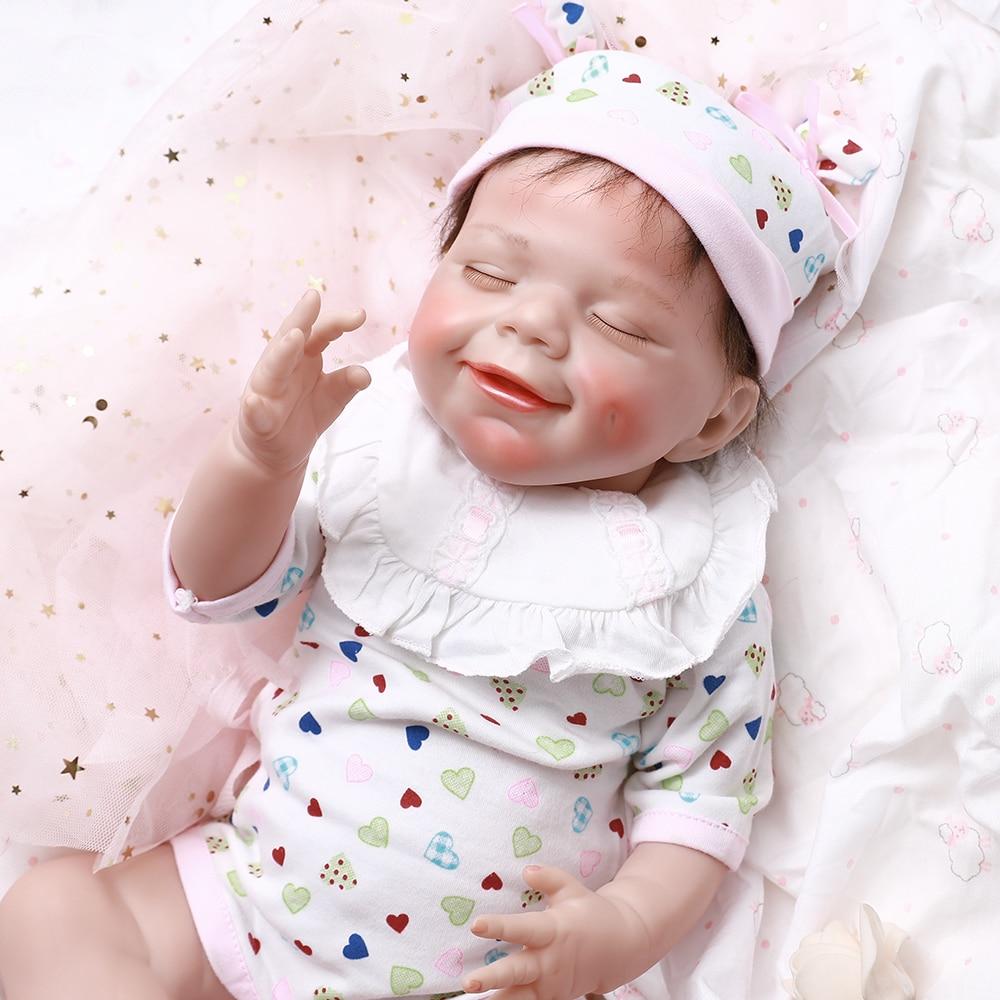 Fashion Reborn Baby Doll Soft Silicone 17