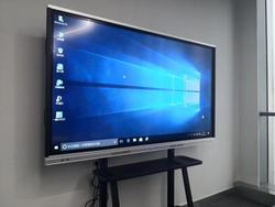 55 65inch 70 inch 84inch TV teaching training conference wifi RF touch screen all in one big touch screen electronic whiteboard
