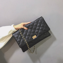 Womens bag pu leather solid color Ling Ge small square chain shoulder women Korean diagonal