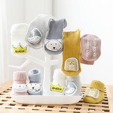 Socks Newborn Shoes Anti-Slip Warm Infant Winter Cartoon Cotton Autumn Soft
