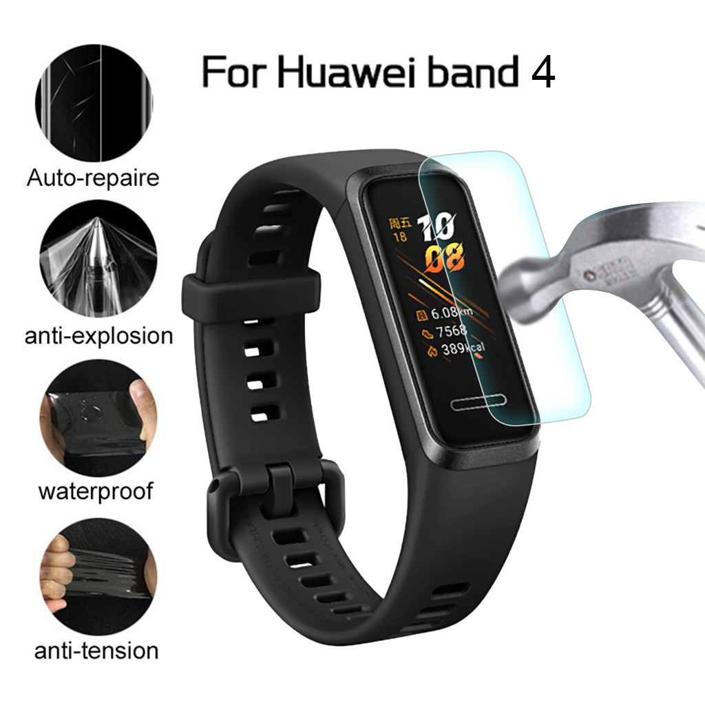 3PC/5PC Full Cover Soft TPU Screen Protector For Huawei Honor Band 4 Hydrogel Protective Film Guard Protection Not Glass