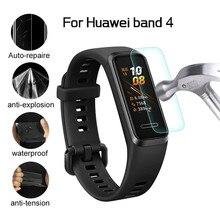 3 шт./5 шт. полное покрытие, мягкий TPU, Защита экрана для Huawei Honor Band 4 гидрогель Защитная пленка защита не стекло