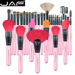 Image 5 - JAF 32 sztuk profesjonalne pędzle do makijażu naturalne kozie kucyk układanie włosów zestaw pędzelków bardzo duża pędzle do pudru J3252 P