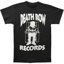 Camisa engraçada de T Homens Tshirt Novidade A Death Row Records Logo T-Shirt de algodão camiseta homens moda verão t-shirt Branca tamanho euro