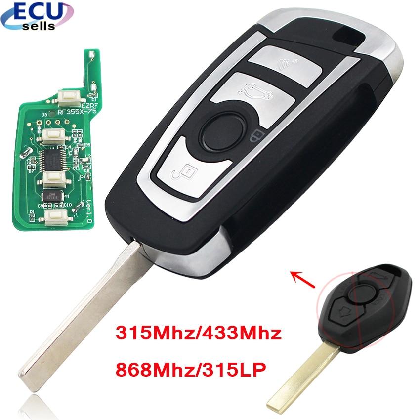 Nowy styl 4 przyciski Floding klucz zdalny CAS2 dla BMW 1 3 5 6 seria X5 z PCF7946 Chip 315MHZ lub 433MHZ lub 868MHZ lub 315LPMHZ