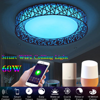 LED Ceiling Light 110V 220V Smart WIFI Modern Lamp Living Room Lighting Work With Apple IFTTT Alexa Echo Google Home LED Light