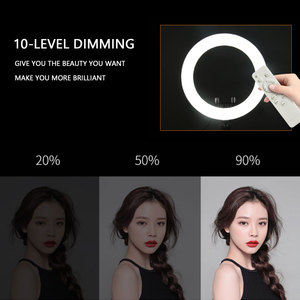 Image 4 - 사진 LED 링 램프 Dimmable Selfie 링 라이트 삼각대 전화 홀더 유튜브 비디오 촬영 라이브 메이크업 웨딩