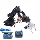 6 DOF Robot Arm Manipulator with Arduino Control 6pcs 180 Degree Servos Metal Gripper for DIY Robotic Car Program STEM Toy Parts