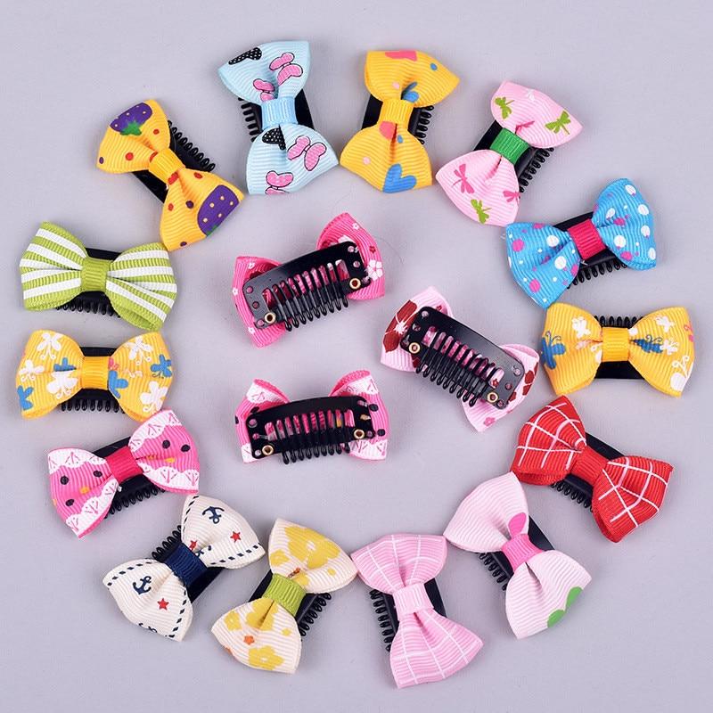 New 10Pcs/Pack Newborn Baby Girls Scarce Hair Lovely BB Clips Bowknot Hairpin Kid Hair Accessories Children Mini Hair Clip
