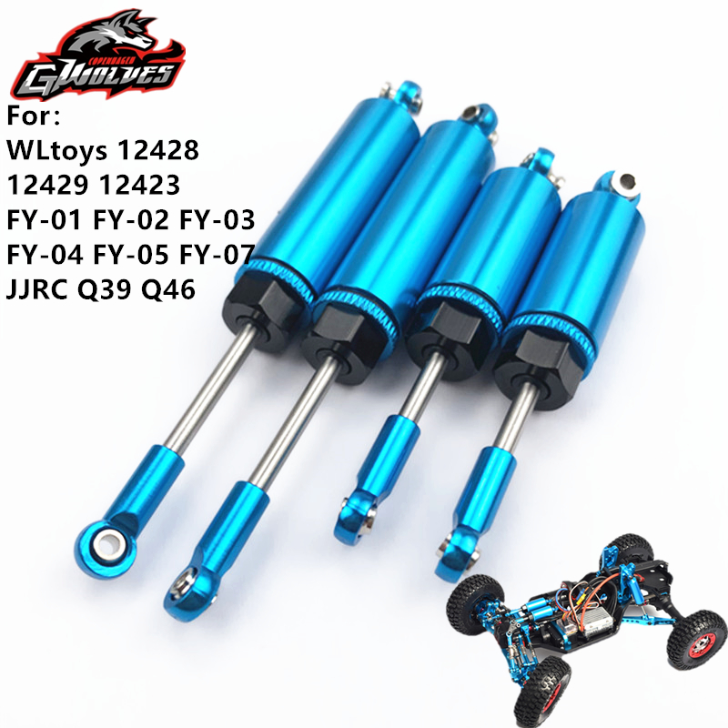2pc/set CNC 6061 metal front rear <font><b>Shock</b></font> absorber for <font><b>wltoys</b></font> <font><b>12428</b></font> 12429 12423 FY 01 03 RC 1/12 RC Upgrade parts image