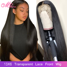 Mshere 13x6 Transparent Lace Frontal Wigs Human Hair
