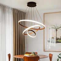 Azul tempo moda branco & preto & café & corpo dourado casa led lustres para sala de estar quarto sala de jantar led luzes
