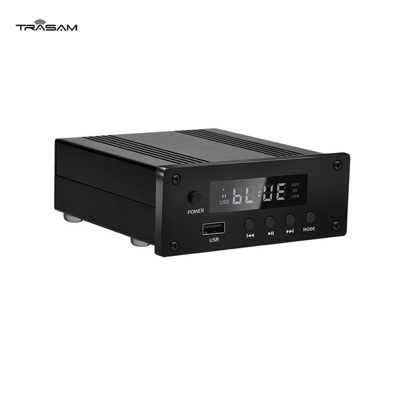 Bluetooth 5.0 digital amplifier 100W*2 stereo audio power amplifier supports input AUX U disk Coaxial optical fibe APP 100w+100w