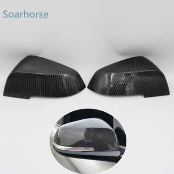 Soarhorse For BMW F20 F30 F31 F21 F22 F23 F32 F33 F34 F35 X1 E84 Car Rearview Mirror cover 1 2 3 4 series Side wing mirror Cap - DISCOUNT ITEM  37 OFF Automobiles & Motorcycles