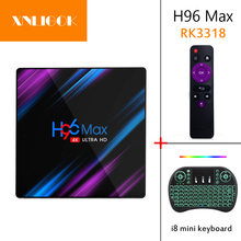 media-player H96 MAX RK3318 Smart TV Box Android 9.0 4GB 32G