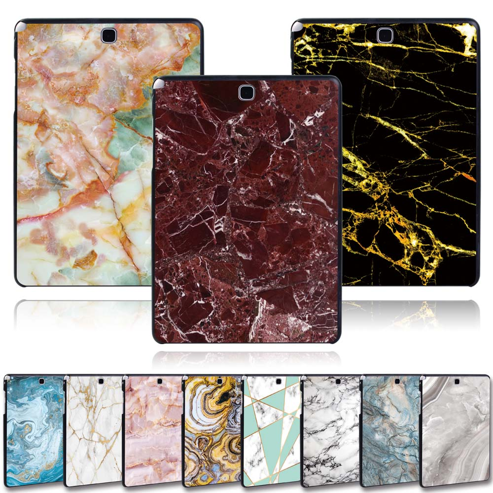 KK&LL For Samsung Galaxy Tab A T550 T555 SM-T550 SM-T555 9.7 Inch -  Tablet PC Plastic Marble Pattern Slim Stand Case Cover