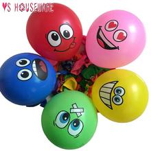 10 sztuk lateksowy balon dekoracja urodzinowa nadmuchiwany balon smiley z nadrukiem z psem polka dot dzieci zabawki baby shower balon tanie tanio YS-CS0000243 Rocznica Party Birthday party Dzień dziecka HALLOWEEN Ślub Graduation CHRISTMAS Wielkanoc Nowy rok Okrągły