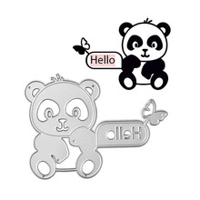 DiyArts Metal Cutting Dies Scrapbooking for Card Making DIY Embossing Die Cut New Craft Hello Letter and Cute Bear
