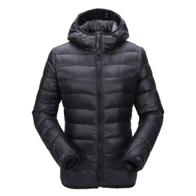 Zogaa Womens Autumn Winter Jacket Ultra Light Down Jacket Women Windproof Warm Clothes Packable Down Coat Plus Size Women Parkas