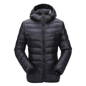 Image 1 - Zogaa bayan sonbahar kış ceket ultra hafif şişme mont kadın rüzgar geçirmez sıcak giysiler Packable uzun kaban artı boyutu kadın Parkas