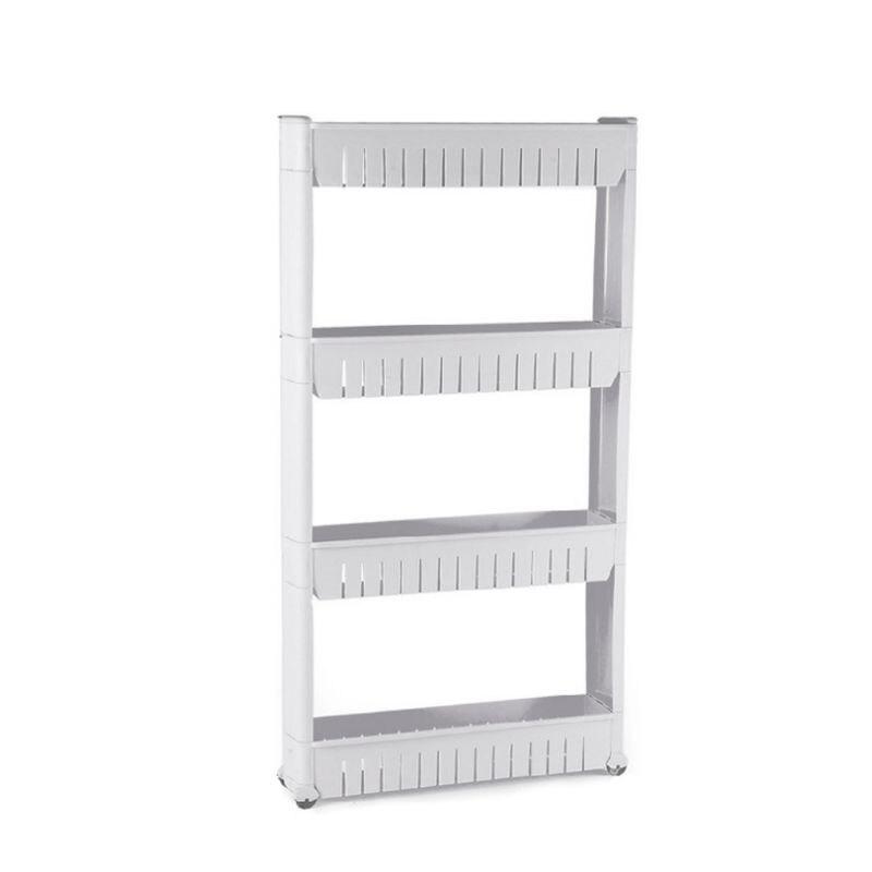 Cuisine salle de bains stockage Rack finition pièce épaississement renfort quatre couches ceinture poulie cadre Gap Clip détachable étagère