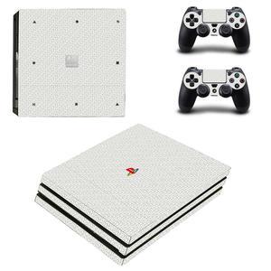 Image 5 - Pure White PS4 Pro naklejki Play station 4 skórka naklejka naklejka na konsolę PlayStation 4 PS4 Pro i skórka na kontroler winylu