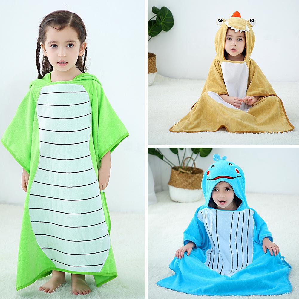 Cartoon Crocodile Baby Bath Shower Towel Fashion Trend Skin-friendly Comfort Kids Superfine Fiber Hooded Bathrobe