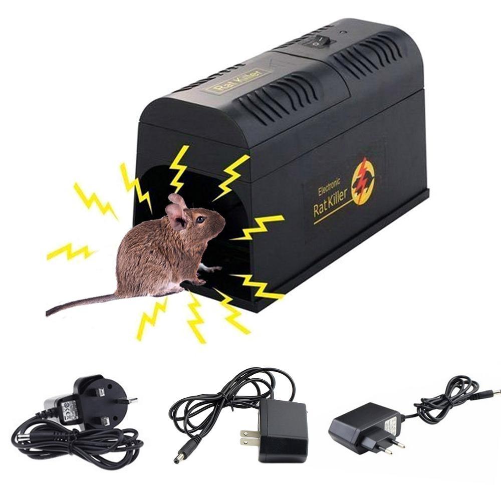 Behogar electrochoque ratón rata ratones trampa para roedores jaula mata Zapper rechazar el rechazo para Control de plagas serio enchufe UE EE. UU. Reino Unido Hogar automático continua ratonera reutilizable gran trampa para ratones jaula de roedores de gran efecto