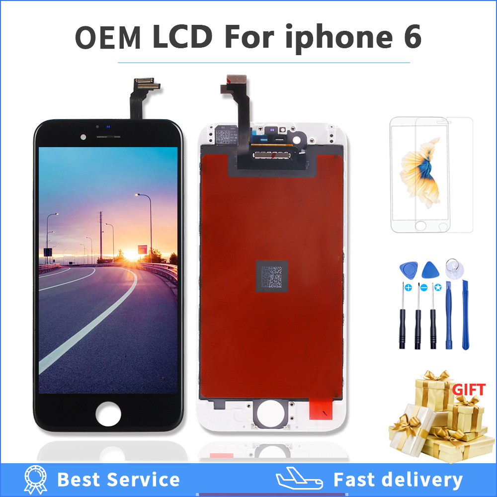 OEM lcd display For <font><b>iPhone</b></font> <font><b>6</b></font> A1549 <font><b>A1586</b></font> A1589 touch <font><b>Screen</b></font> Replace lcd with original Digitizer Assembly for <font><b>iPhone</b></font> 6G <font><b>6</b></font> part image